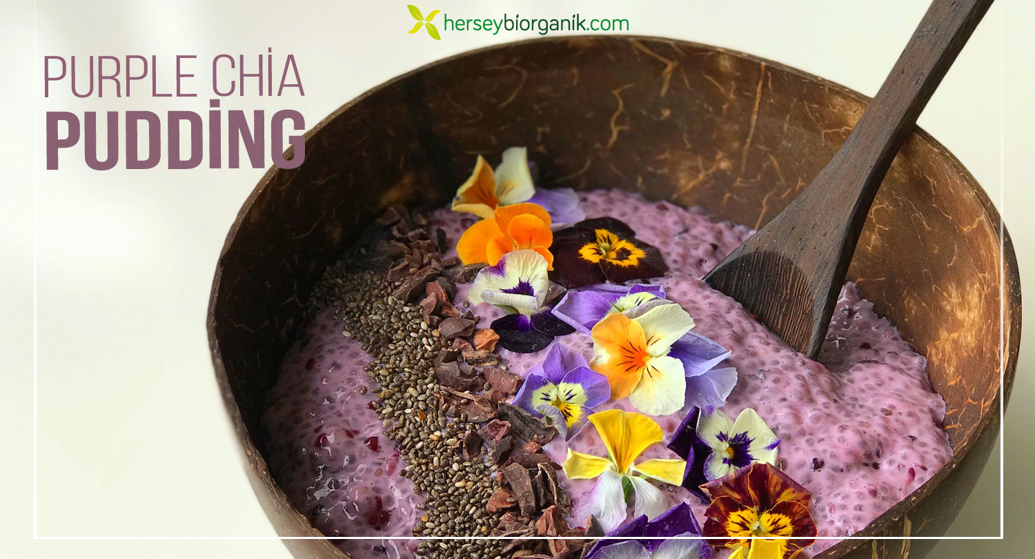 purple chia pudding